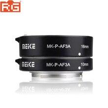 Meike tubo de extensão de auto foco, tubo de folha para câmeras panasonic olympus sem espelho MK P AF3A macro