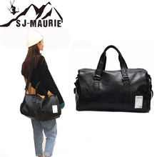 SJ-Maurie Gym Shark Womens Bag for Sport Pu Leather Shoes Bags Women FitnessYoga Woman Sport Bag Bolsa Deporte Hombre Gimnasio(China)