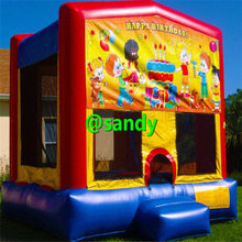 happy birthday 4.5x4m kids commercial Bouncy Castle Inflatable jumping Castle Jumper Trampoline Bounce House Inflatable Bouncer(China)