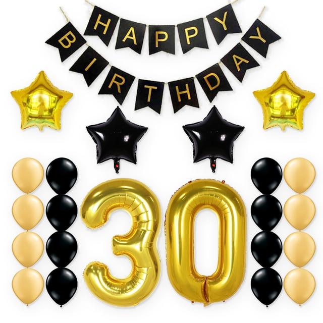 KUCHANG 23pcs Lot 30th BIRTHDAY PARTY WALL DECORATIONS KIT