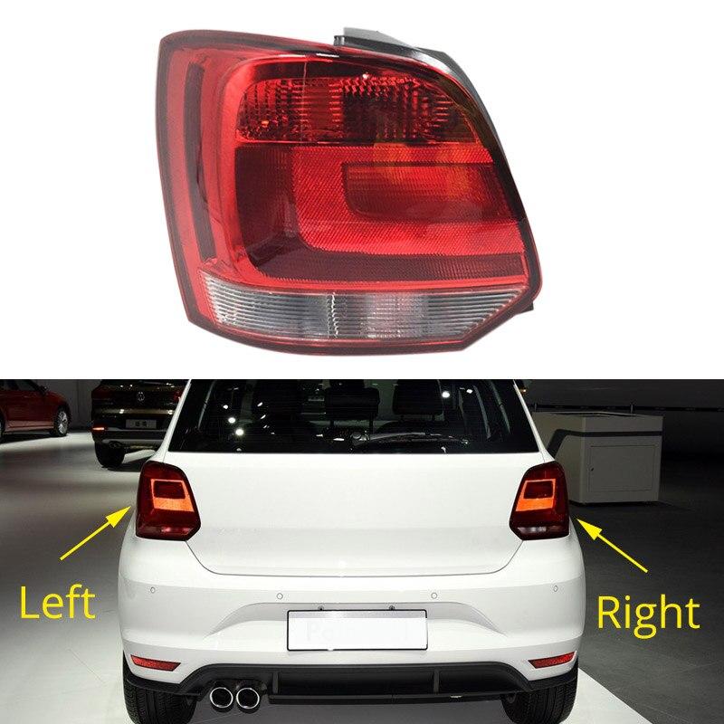Expédition rapide Voiture Arrière Feu arrière Pour VW Polo 6C Hayon 2014 2015 2016 2017 Car Styling À Gauche À Droite S'arrête de freinage lampe