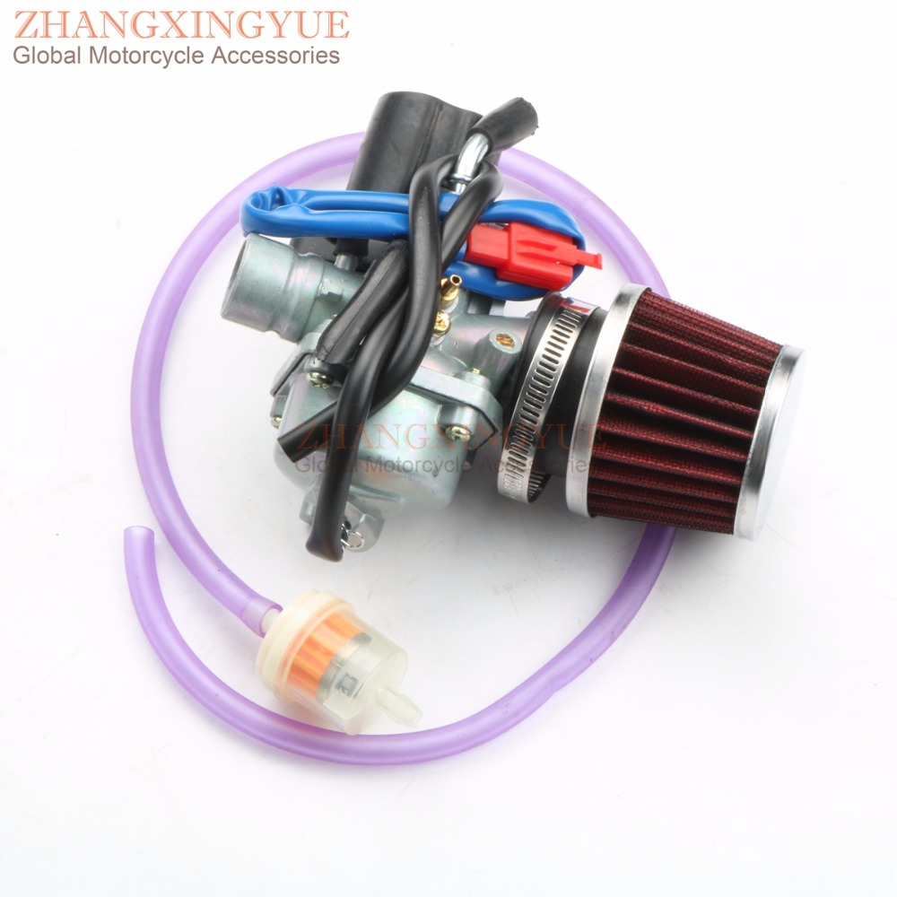19mm Carburetor & High Quality Air Filter for AirTec 50 LC / AC Blizzard GTA 50 Cat 50 M ...