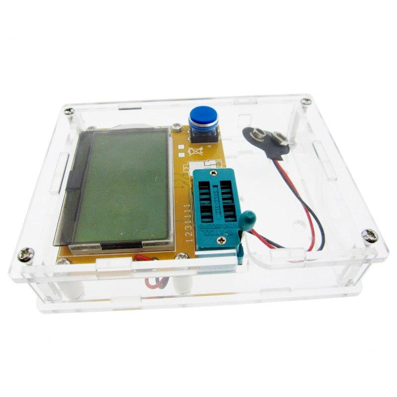 LCR-T4 Mega328 M328 Diode Triode Capacitance ESR Meter MOS PNP Transistor Tester LCD Display Transistors Diodes With Case Box