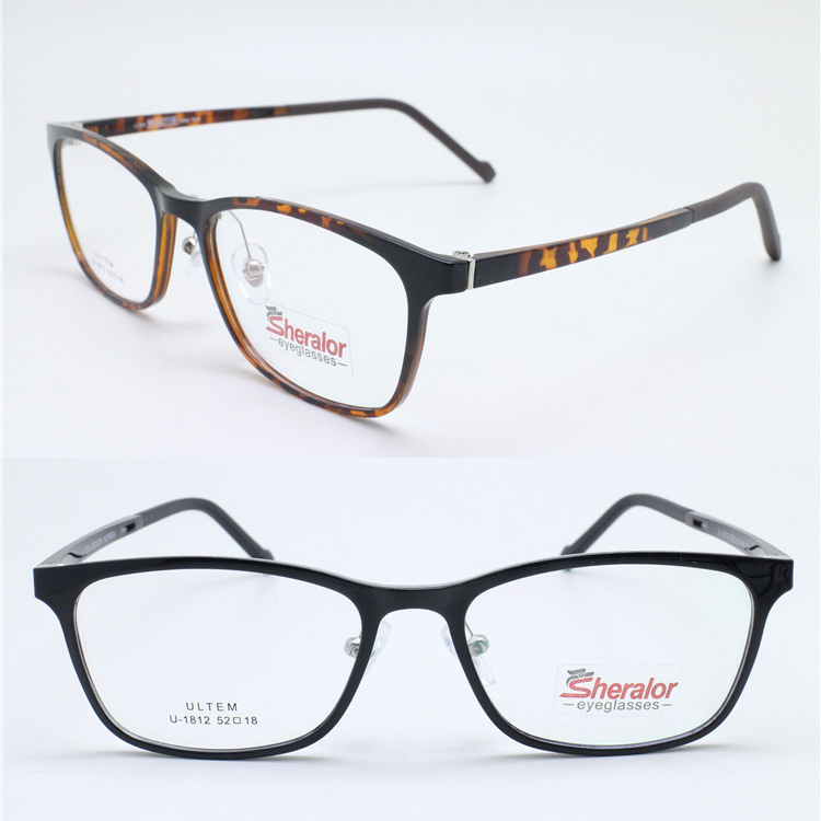 879faaa686fc retaillsale 1812 square shape full rim with silicone nose pad ultra  lightweight ULTEM prescription glasses frames free shipping-in Eyewear  Frames from ...