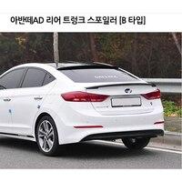 Para Hyundai Elantra Spoiler 2016 2017 Da Cauda Do Carro Decoração de Alta Qualidade Plástico ABS Unpainted Primer Tronco Traseiro Asa Spoiler|Spoilers e aerofólios| |  -