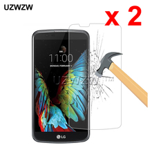 2pcs For LG K10 K10 Lte 0.26mm 2.5D 9H Hardness Tempered Glass Protective Glass