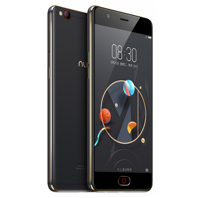 Original Nubia M2 Lite 4G LTE Mobile Phone 3/4GB RAM 64GB ROM MT6750 Quad Core 5.5 inch 16MP Android N Fingerprint ID SmartPhone