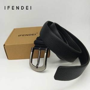 Image 2 - IFENDEI Geld Leder Gürtel Für männer Luxus Marke Gürtel Schwarz Designer Geheimnis Tasche Strap Versteckte Geld Echte Lederband