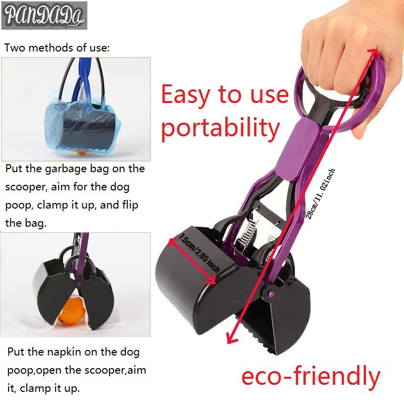 Products For Dogs Poop Pick Up Scooper Wipe Long Handles Poop Dog Pooper Cleaning Bags Poop Tools Ggyfmb
