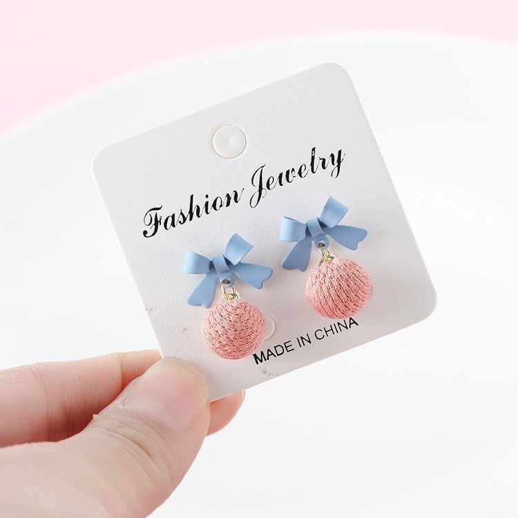 New bow earrings for women female temperament Korean ball small cute earrings jewelry oorbellen boucle d'oreille pendientes boho