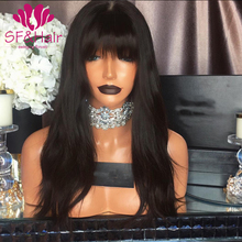 8A Full Lace Human Hair Wig For Black Women Full Lace Front Wigs With Baby Hair Straight Glueless Lace Front Human Hair Wigs