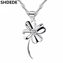 SHDEDE Four Leaf Clover Jewelry Crystal from Swarovski Fashion Pendant Necklaces For Women Trendy Accessories Party Gift -*