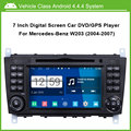 Android Car DVD Video Player for Mercedes Benz C Class W203 2004-2007 GPS Navigation Multi-touch Capacitive screen,1024*600
