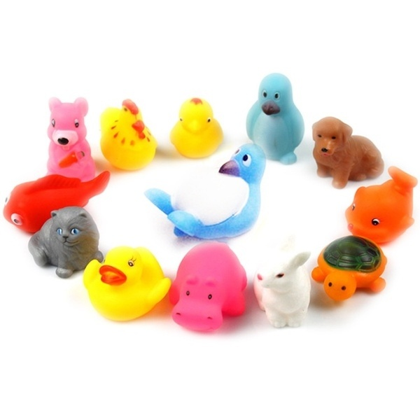 Classic Toys Bath Toy Baby Bath Toys Floating Child Baby Playing Water Toys Soft Kids Playing Water Swimming Water Toys 10pcs/set