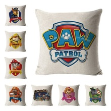 45cm paw patrol dog toy child pillow pillowcase chase paw patrol cartoon animated character pillow pillowcase gift for children paw patrol машина спасателя chase