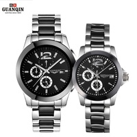 GUANQIN Ceramics Couples Lovers Watches Multifunction Waterproof Automatic Mechanical Watches Men Women Sport Luminous Clock