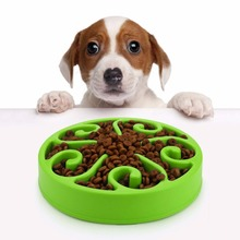 Fashion Slow Feed Dog Bowl,Anti-Choking,Healthy Pet Food Bowl To Prevent Obesity,Dog Feeder Dish,Water for
