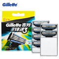 Оригинал Gillette Mach 3 Бритвы Лезвия Бритвы, Лезвия Для Бритья Для Бритья Лезвия Для Бритья Бритва Три Слоя Мужчины Бритья Бритва 6 pcs