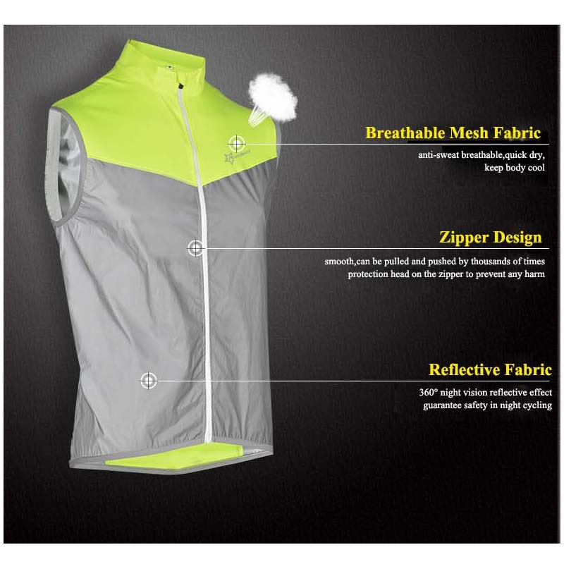 Back To Search Resultshome Rockbros Men Women Reflective Cycling Vests Sleeveless Breathable Outdoor Safety Jersey Top Bike Bicycle Night Walking Vest Coat