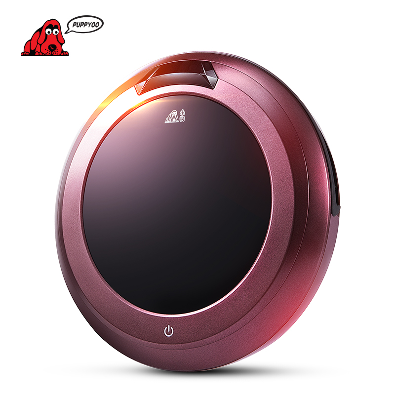 PUPPYOO Intelligent Robotic Vacuum Cleaner Self-Charging & Side Brush for Home Remote...