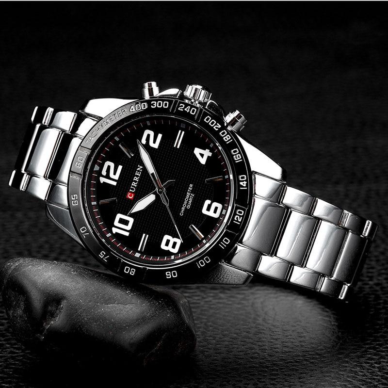 CURREN Heren Horloges Topmerk Luxe Militaire Horloges Staal Heren - Herenhorloges - Foto 3