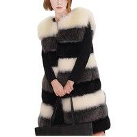 Пальто с искусственным мехом, модная новинка, пальто с искусственным мехом, жилет в европейском и американском стиле, популярная разноцветн
