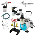 Airbrush Cake Decorating  Air Compressor Kit Commercial arts Paint on T-Shirt Temporary tattoo 220V/50HZ