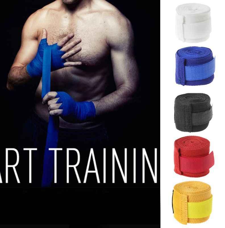 2,5 m vendaje de algodón boxeo venda de muñeca de la mano de combate proteger boxeo kickboxing, muay thai Handwraps guantes de entrenamiento