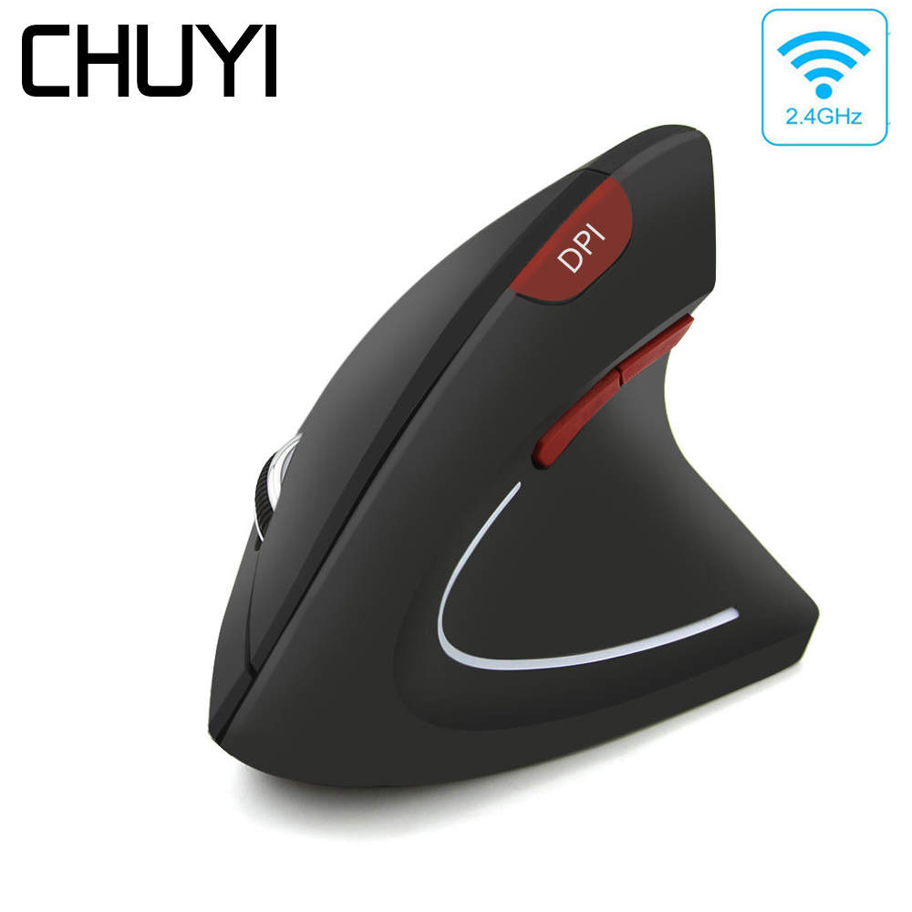 CHUYI Left/Right Hand Wireless Mouse Ergonomic Vertical Computer Mice 800/1200/1600DPI USB Optical Mause Gamer With Mouse Pad|Mice| |  - title=