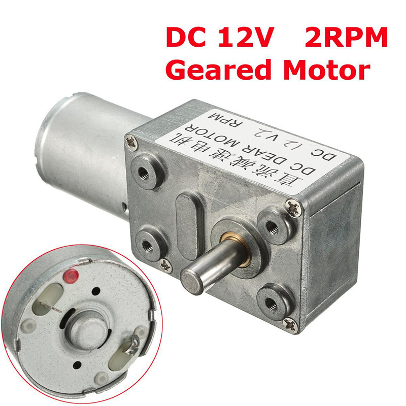 GW370 DC 12V 2rpm High Torque Turbo Worm Geared Motor Reducer Motor high torque turbine gear dc motor gw370 dc 12v 0 6rpm 2rpm 5rpm 8rpm 13rpm 24rpm 45rpm 65rpm 80rpm 120rpm right angle gearmotors