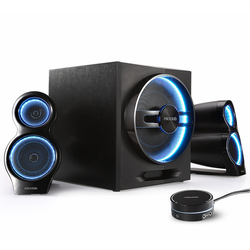 Microlab T10 LED HIFI Bluetooth Wireless Speakers Home Theater Party Subwoofer Sound System Bass