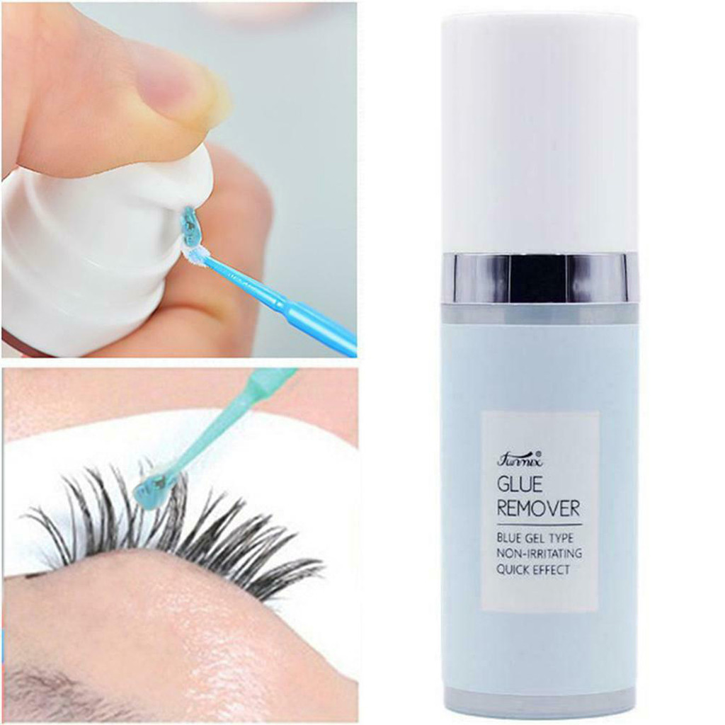 FUNMIX  Eyelash Glue Remover Blue Fragrance Eye Lashes Adhesive Removal Gel R Emoval Essential Tool