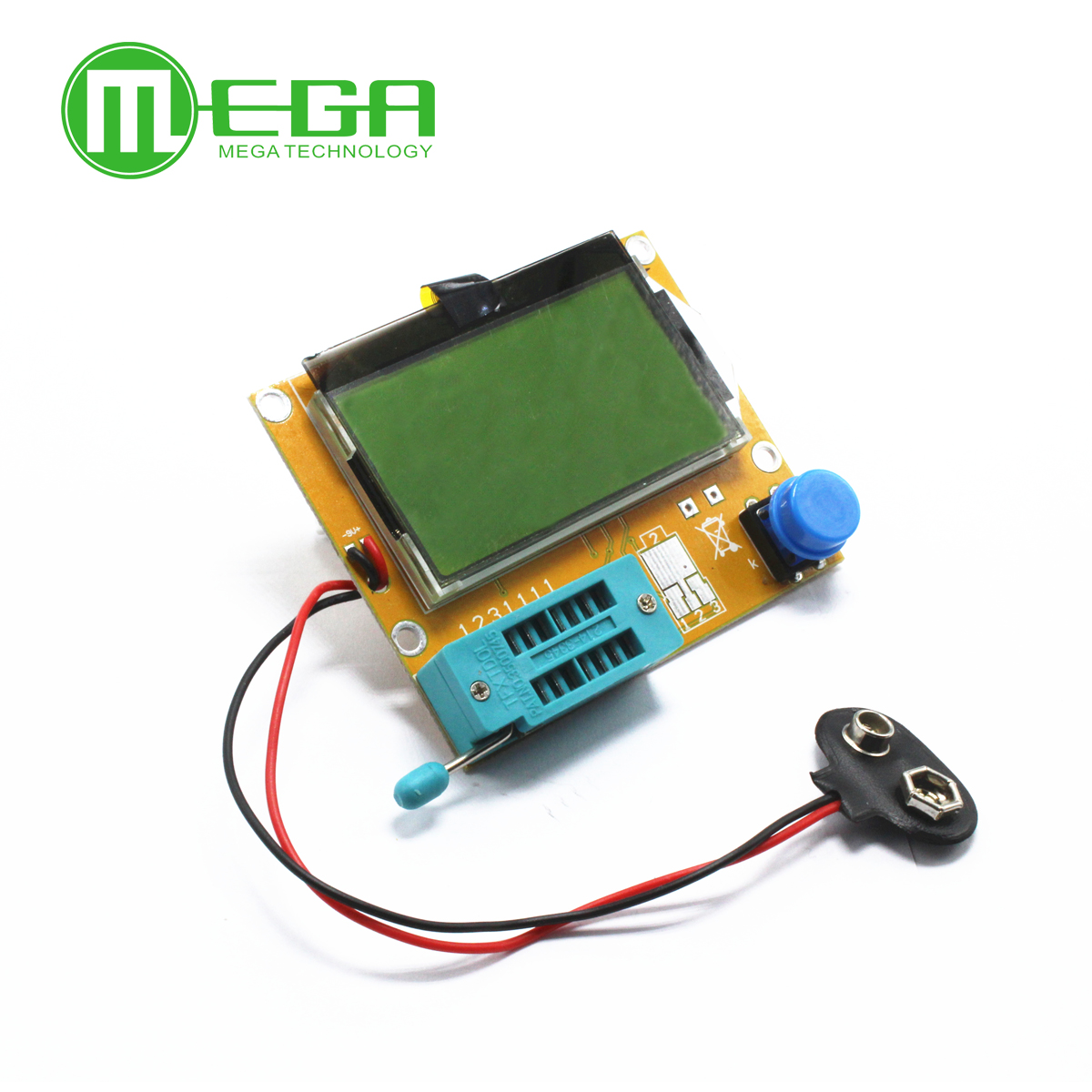 1pcs LCR-T4 Mega328 Transistor Tester Diode Triode Capacitance ESR Meter MOS/PNP/NPN L/C/R Well Working