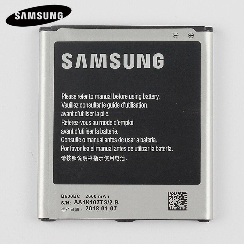 Batería Original del reemplazo del 100% B600BC para Samsung GALAXY S4 I9500 I9505 I9506 I9507 I9508 SCH-P709E P709E i959 i337 2600 mAh