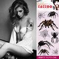 2 Pçs/lote DIY À Prova D' Água Etiqueta Do Tatuagem Temporária Tatuagem de Aranha 3D Transferência de água Tatuagem Falsa para Sexy Corpo Das Mulheres Dos Homens Adultos arte