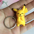 Pokemon Go Keychains Figures Pikachu Cute Anime Car Metal Key Chains For Women Teens llaveros Sleutelhanger Keyring Chaveiro