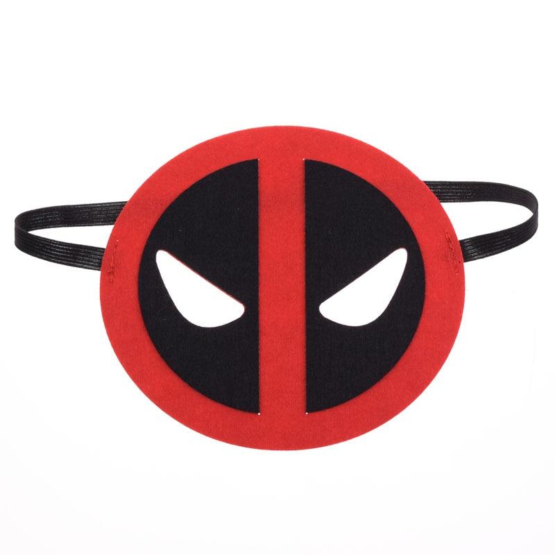 Mask Deadpool SuperHero Glasses Mask Kids Baby Boy Girl Costume StarWars Halloween Xmas Avengers DIY Masquerade Eye Mask Cosplay