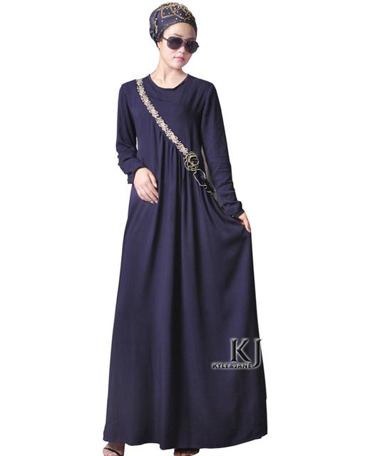 Moda Abaya Muçulmano Dubai Vestuário Islâmico Para As Mulheres Muçulmanas Abaya Jilbab Djellaba Musulmane Estampa floral flor Vestido abaya