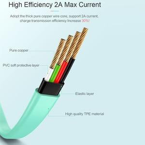 Image 3 - USAMS Cable de iluminación para iPhone 6S 6 7 8 plana 2A Cable de carga/sincronización para iPhone Cable de cargador de 2m Cable de carga de teléfono móvil