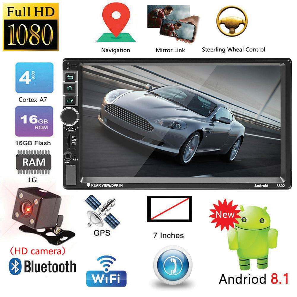 7 inch Touch Screen Car Bluetooth MP5 Player Vehicle 2 Din MP4/GPS Navigation 8802 Old Model with Camera For Car