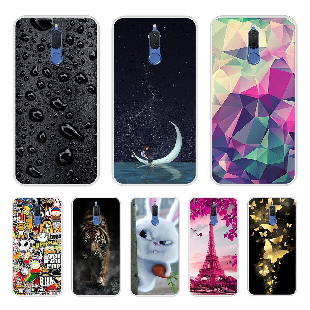 Case For Huawei Mate 10 Lite Mate10 Lite Soft Silicone TPU Cool Design Paint For Coque Huawei Mate 10Lite Phone Case Cover
