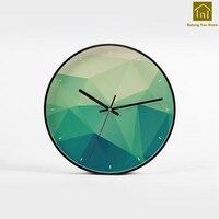 Art Creative Simple Mute Circular Living Room Wall Clock Watch Bedroom Designer Wall Clocks Duvar Saati Watch Time Tool WKP157