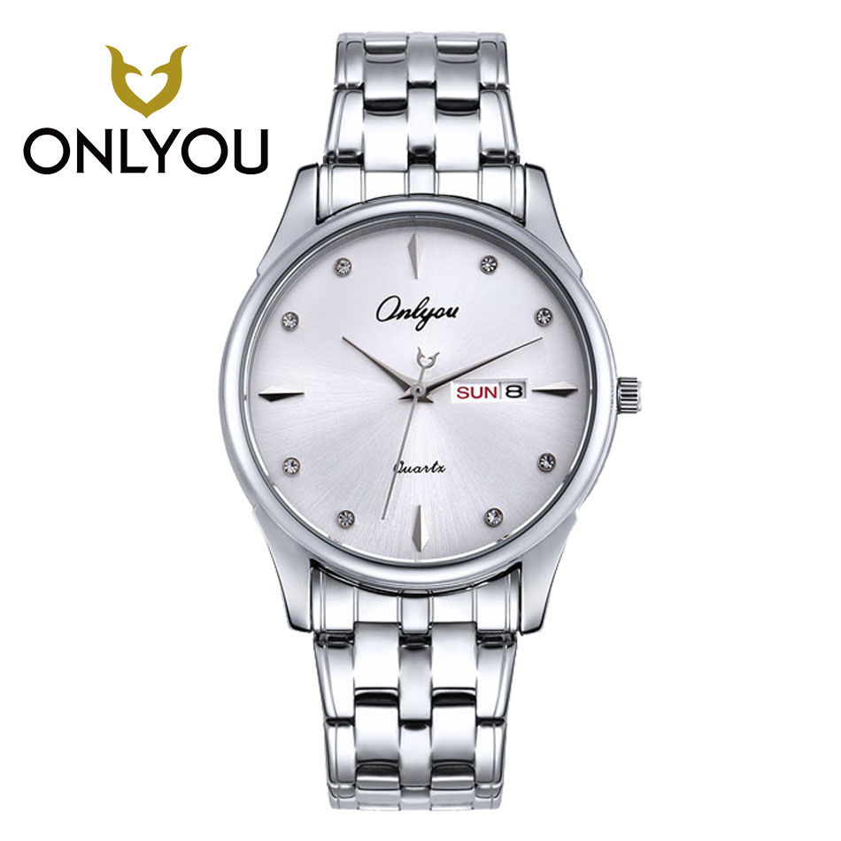ONLYOU Mens Sports Watches Top Brand Luxury Lover Watches Date Clock Fashion Casual Watch Waterproof Quartz Wristwatch onlyou women top brand fashion watch super slim quartz waterproof wristwatch females casual fabric gift watces wholesale