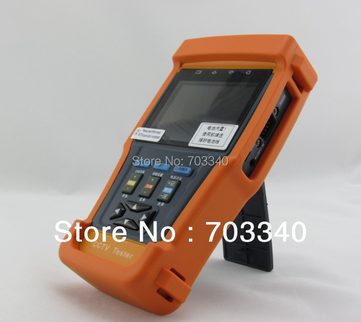 New 3.5 inch LCD CCTV  tester monitor video cable testing PTZ control video digital zoom 12V output wholesale hvt 2601 3 5 tft lcd camera cctv poe tester ptz controller zoom dvr