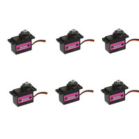 6PCS MG90S Micro Metal Gear 9g Servo For RC Plane Helicopter Boat Car 4.8V 6V Parts Accessories Toys for Children