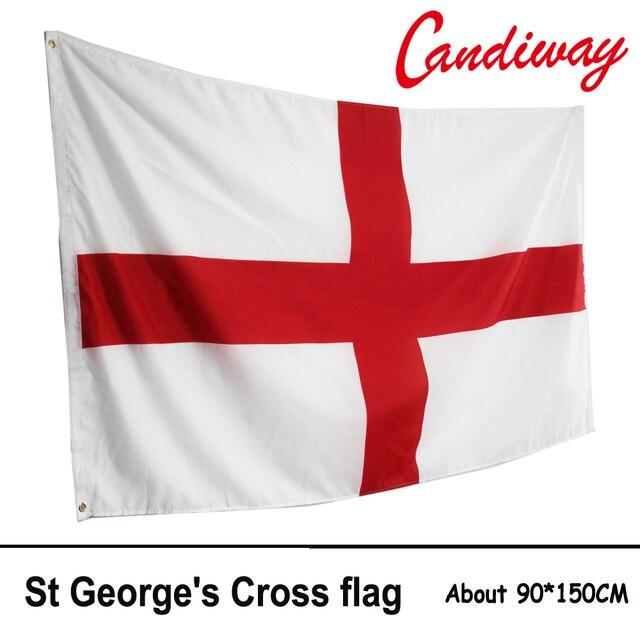 Fabuleux Drapeau de L'angleterre 3x5 ft St George de Croix Rouge Blanc  VA09
