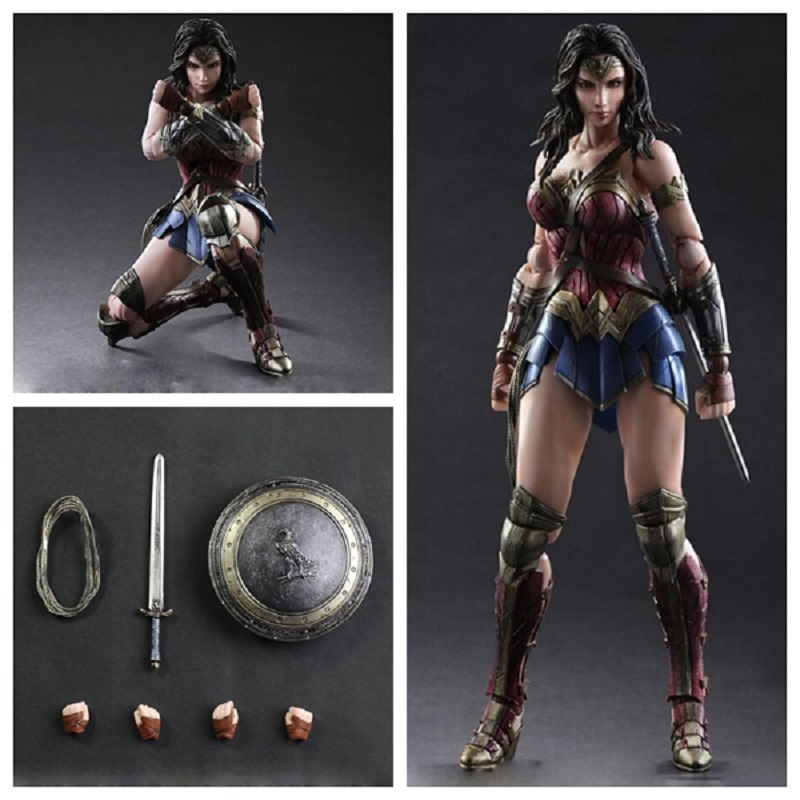 DC Batman V Superman Wonder Woman Play Arts figure 1/6 scale painted variant Doll Anime PVC Action Figure Collectible Model Toy star wars red royal guard 1 8 scale painted variant red royal guard doll pvc action figure collectible model toy 17cm kt3255