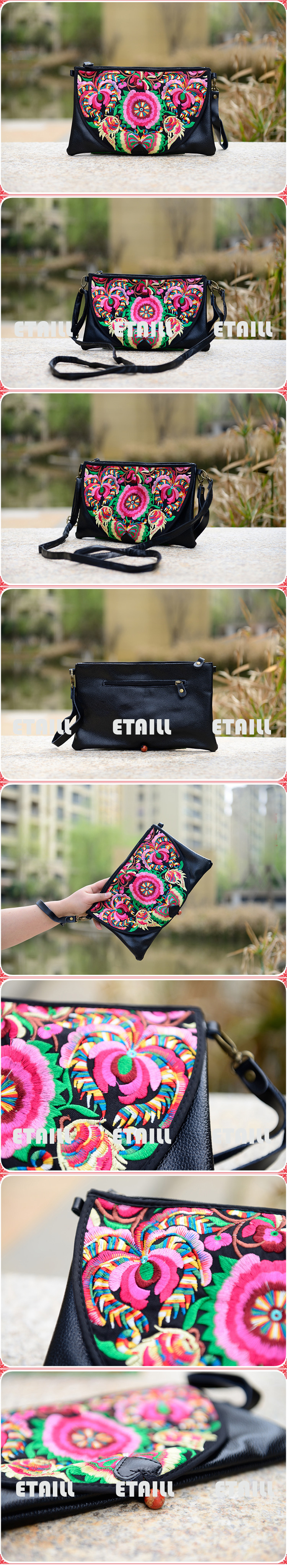 Embroidered Floral Bags