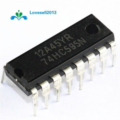 50Pcs SN74HC595N SN74HC595 74HC595N 74HC595 DIP-16 Shift Register 8-Bit DIP-16 IC 100% New Original