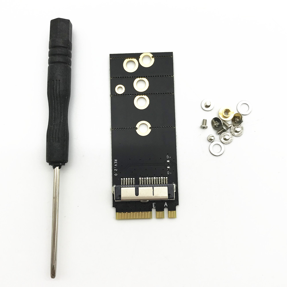 BCM94360CS2 BCM943224PCIEBT2 BCM94331CSAX BCM94331CD BCM94360CS BCM943602CS Wireless Card to NGFF M.2 Key A/E Adapter for Mac OS